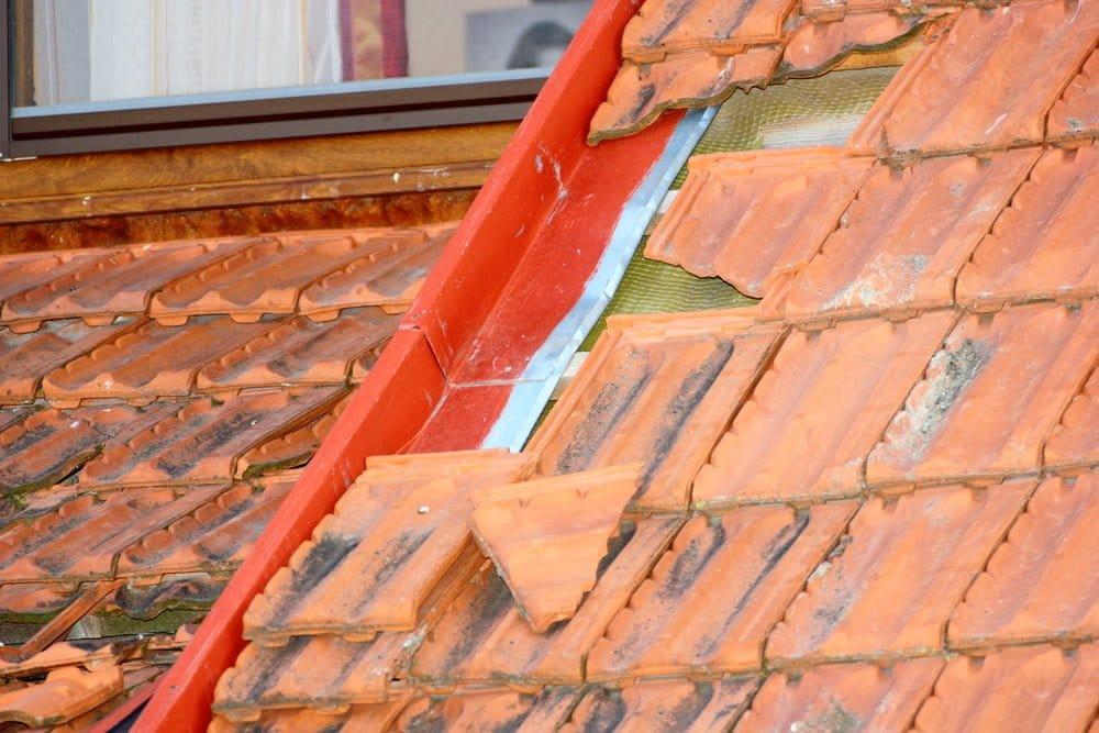major roof storm damage